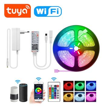 15M Tuya Smart Home Led Strip Diy Wifi Voice Switch RGBW Light Lightings For Amazon Alexa Siri Google Home Smart Life Smart Lamp