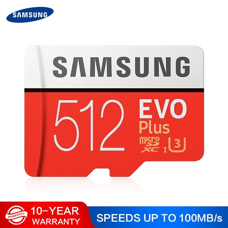 SAMSUNG EVO mikro SD 128 GB 32GB 64GB 256GB 512GB U1 U3 mikro SD kart bellek kart 32 64 128 GB Flash kart SD/TF MicroSD telefon için