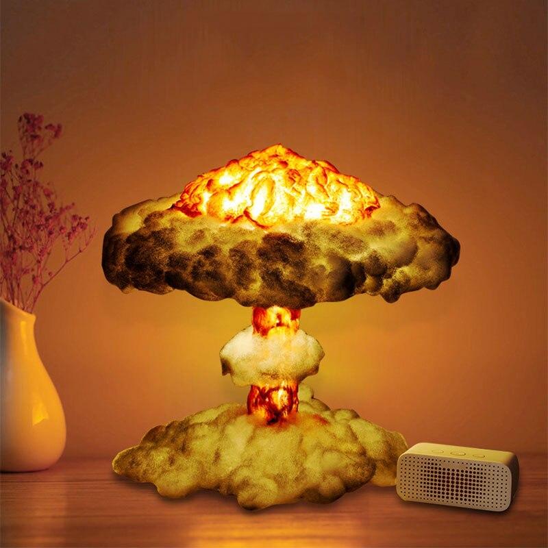 DIY 3D Lamp Simulated Explosion Mushroom Cloud Led Night Light for Home Decoration Decorative 3D Table Lamp for Bedroom Gifts|LED Night Lights|   - AliExpress
