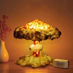 Lámpara Led nocturna DIY 3D con seta de explosión simulada para decoración del hogar, lámpara de mesa 3D decorativa para regalos de dormitorio