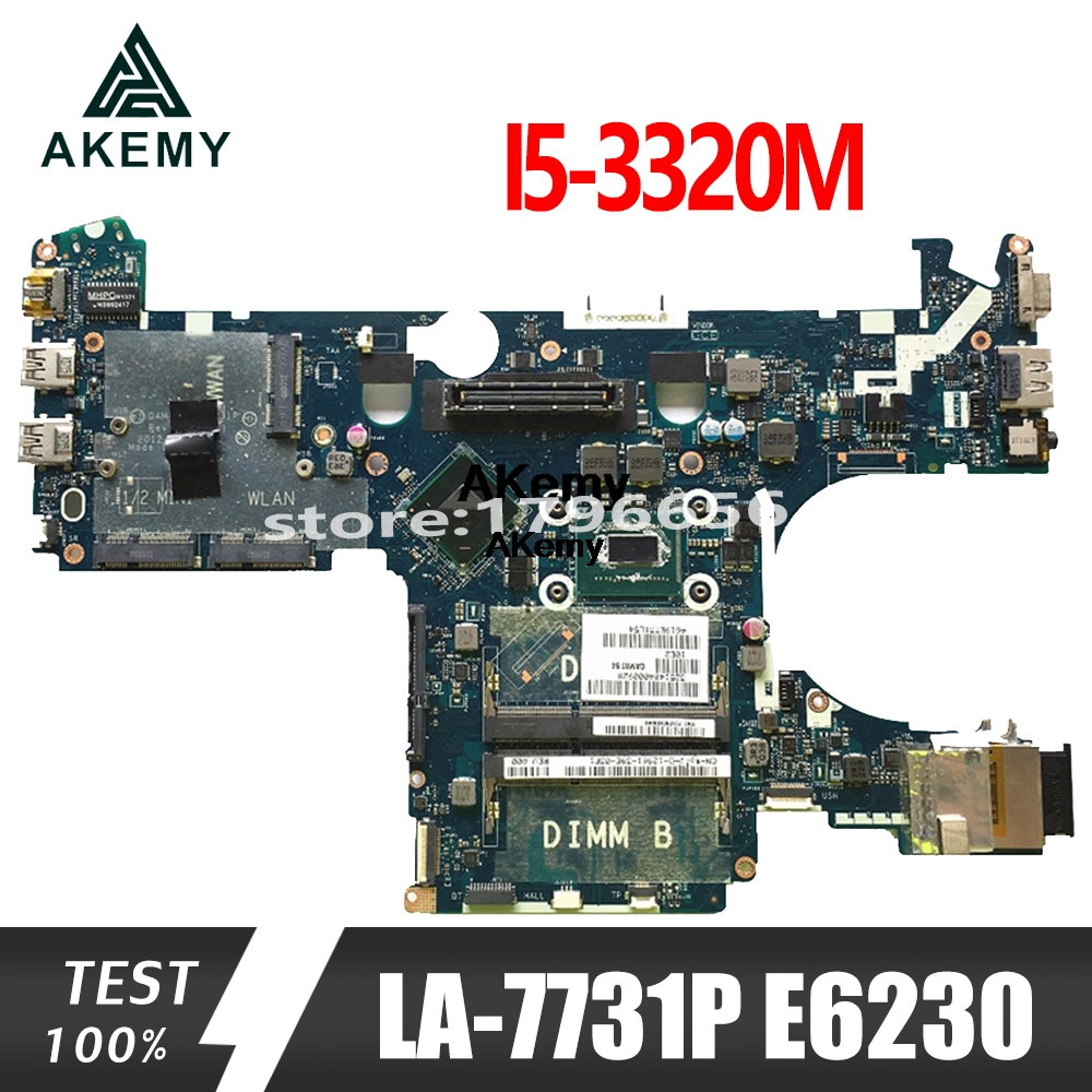 For DELL E6230 Laptop Motherboard <font><b>I5</b></font>-<font><b>3320M</b></font> LA-7731P CN-05CDR9 CN-039GJ4 image