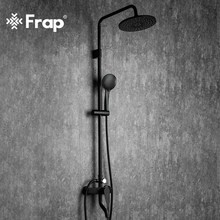 Frap Bathroom Faucet Black Rain Shower Head Faucet Wall Mounted Bathtub Shower Mixer Tap Shower Faucet Shower Set Mixer F2429