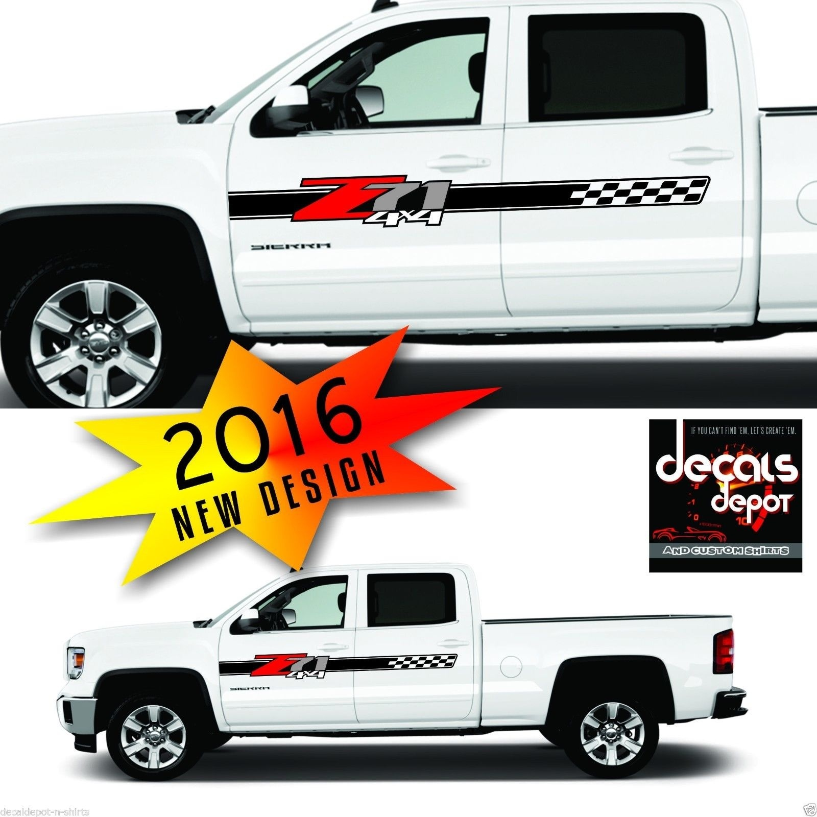 4x4 Mud Tracks Truck Bed Decal Dodge Ram 1500 Chevy Ford Sticker Stripe Vinyl 0 Auto Parts Accessories Car Truck Parts