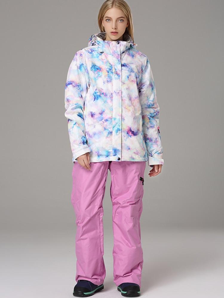 2019 Ski Suit Women Snowboard Suit Female Winter Suit Skiing Sport Suit Snowboard Snow Suit Ski Jacket Women Snow Pants Snowsuit