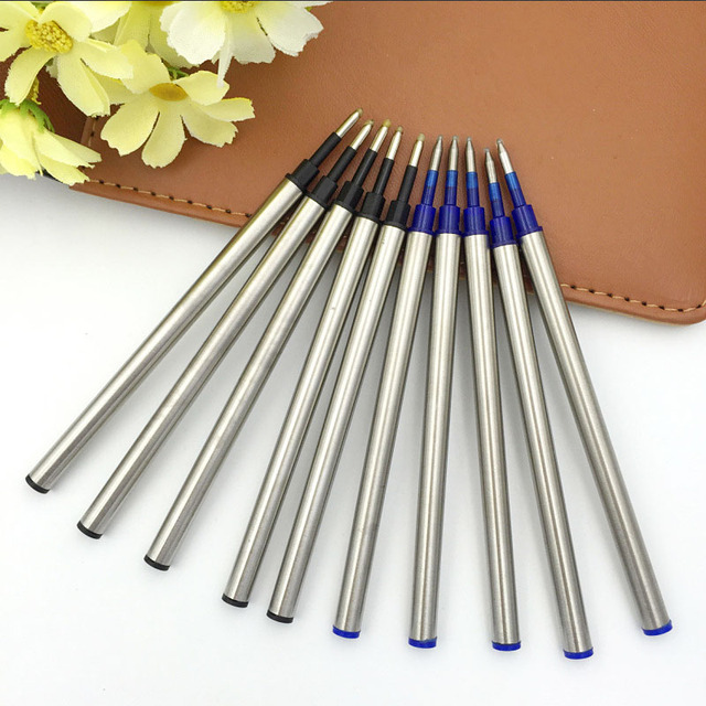 5 pcs/lot Metal Refills 0.5mm for Roller Ballpoint Pen Business Pen Ball Pen Refills 11cm Length Office School Supply Stationery 4