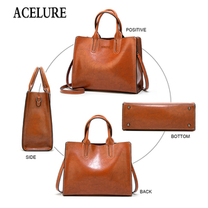 Image 4 - ACELURE Women Shoulder Bag Female Causal Totes for Daily Shopping All Purpose High Quality Dames Handbag Leather Bags for Women