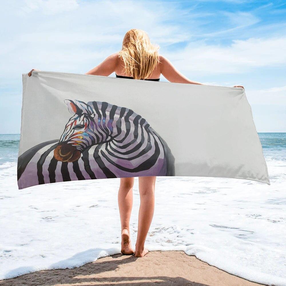 Zebra Africa Bath Towel Camping Bathroom Accessories Microfiber Beach Towel Bath Towels For Adults Bath Towels Aliexpress