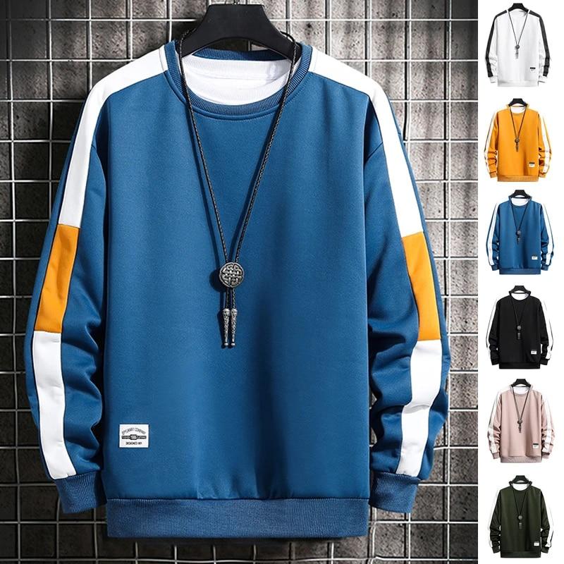 Men Women Casual Hoodie Sweater Sweatshirt Coat Long Sleeve O-Neck Pullover Tops