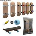 1 Набор Пальчиковый скейтборд деревянный гриф игрушки профессиональный стенты поддерживающих колесиков выполнены пальцы комплект для кат...