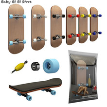 1Set Finger SkateBoard Wooden Fingerboard Toy Professional Stents Fingers Skate Set Novelty Children Christmas Gift
