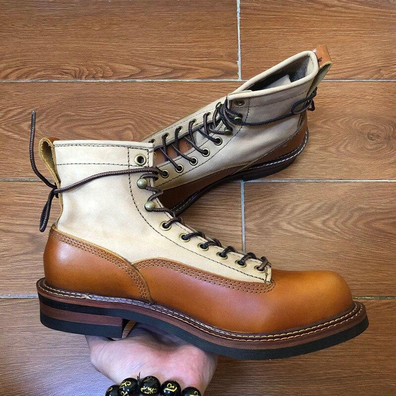 2019 мужские ботинки из натуральной кожи; сезон осень зима; ботильоны; модная обувь; слипоны; мужская повседневная обувь в деловом стиле с высо... - 5