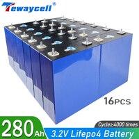 Batteria 280Ah 16pcs 3.2V Lifepo4 batteria al litio ferro fosfato per batteria Lifepo4 per auto elettrica a celle solari