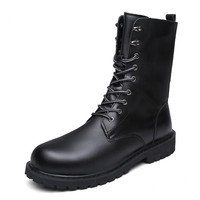 Military Boots Men Winter Shoes Warm Men Leather Boots Footwear Cowboy Tactical Boots Men Casual Shoes
