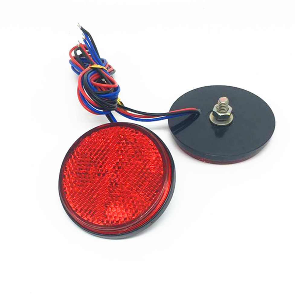 Luces LED de cola redonda para motocicleta, luces de freno traseras, 2 uds. Reflectores LED