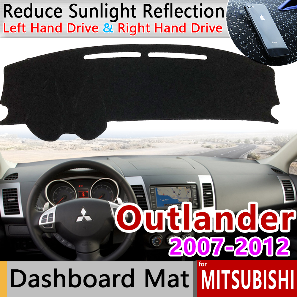 for Mitsubishi Outlander 2007 2008 2009 2010 2011 2012 2nd Gen Anti-Slip Mat Dashboard Cover Carpet Sunshade Dashmat Accessories
