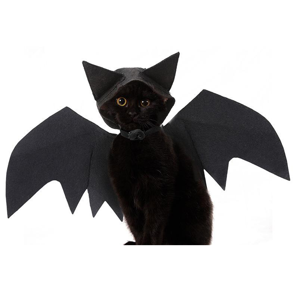 Dorakitten Halloween Dog Costume,Bat Costume for Dog Halloween Pet Bat Wings with 2 Bells and Leash for Halloween Party
