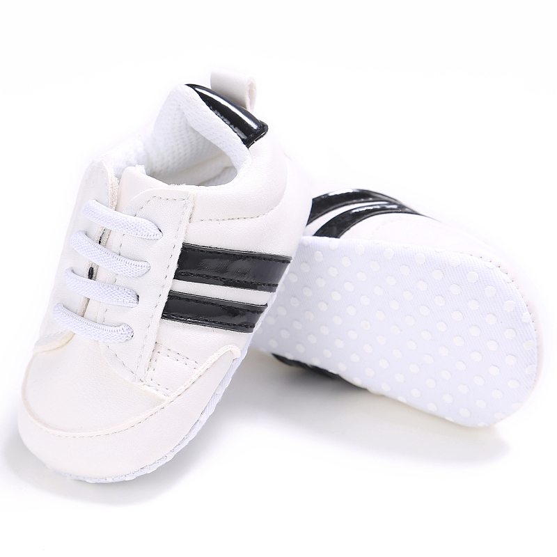 Toddler First Walker Baby Shoes Boy Girl Classical Sport Soft Sole PU Leather Multi-Color Crib Baby Moccasins Casual Shoes
