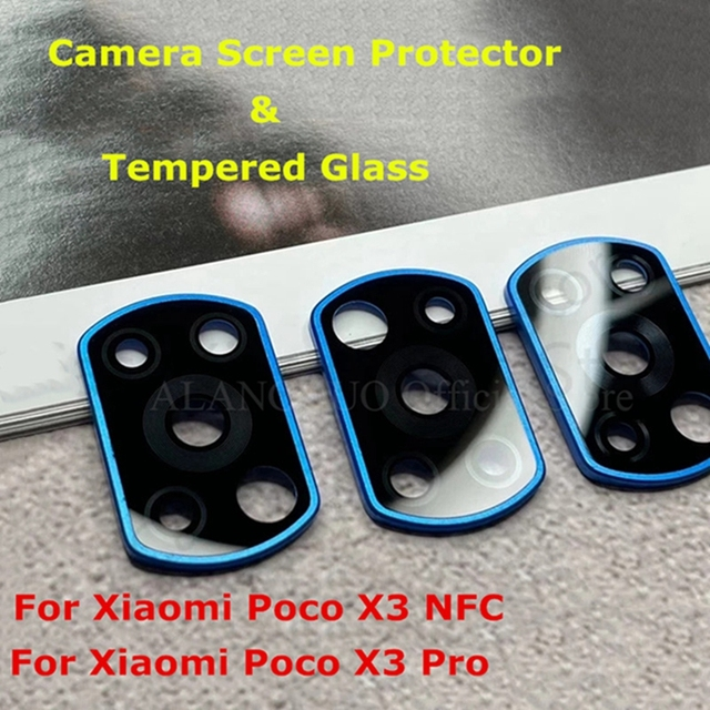For Xiaomi Poco X3 NFC Metal Ring Glass Full Camera Lens Protectors for xiaomi pocox3 nfc pocox3 pooc x3pro Protective Cap