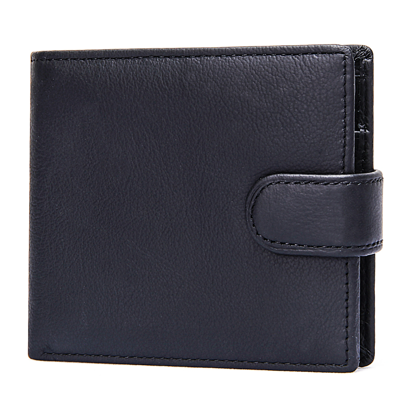 Men's Genuine Leather Wallet Luxury Business Man Credit Card Holder Bifold Hasp Short Coin Purse Real Cowhide Clutch Money Bag