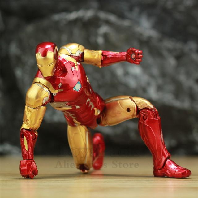 Marvel Avengers 4 Endgame Iron Man MK85 7″ Action Figure Ironman Mark 85 Nano Weapons Suit Tony Stark Legends Original ZD Toys