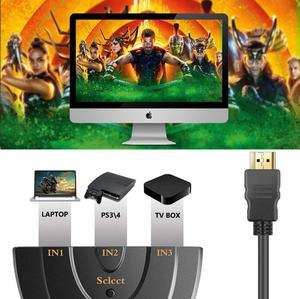 Image 4 - HDMI Splitter 3 Port HDMI Switch 1.4b 4K Switcher Full HD 3 in 1 out Port Hub 4K*2K 3D with Pigtail Cable for DVD HDTV Xbox PS3
