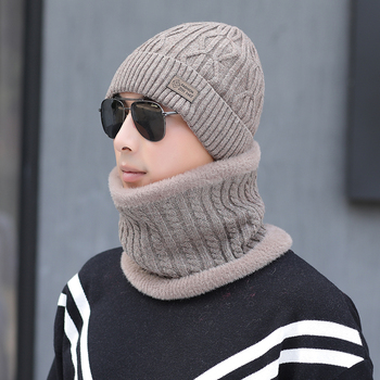 GJ3109 wool Scarf Hats Winter Beanies Soft For Mens Black Warm Breathable Wool Knitted Winter Hat Letter Double Layers Caps solid soft winter pompoms hats for women knitted hats for girls wool big ball caps casual black beanies warm hat gorrses