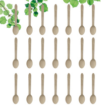 50pcs Disposable Wooden Spoon Durable Convenient Small Cake Spoon for Home Store