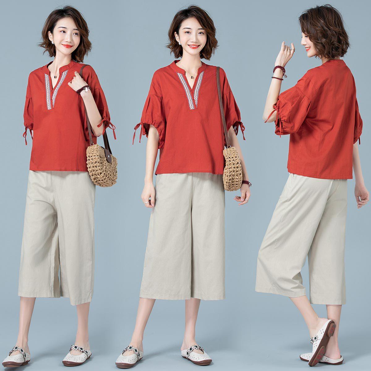Elegant Fashion Set/Suit Skirt Loose-Fit 2019 Summer Elegant Cool Short Sleeve