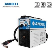 ANDELI цифровой бытовой однофазный MIG-250E мини MIG сварочный аппарат без газового потока сердечник проволочный инвертор сварочный аппарат