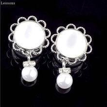 Leosoxs 1pc pingente moda auricle brincos de aço inoxidável retro pérola orelha expansão corpo piercing jóias quentes novos produtos