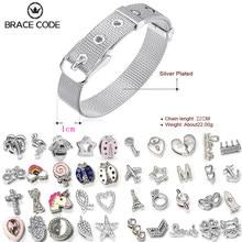 Neue Mode Silber farbe 10mm Mesh Armband & Zubehör, genießen DIY Handgemachte Spaß Fit Original Feine Armband Bangle Charme Geschenk