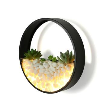 Modern Simple Creative Nordic Bedside Lamp LED Multi-flesh Plants Wall Lamp Shell Living Room Background Wall Bedroom Round