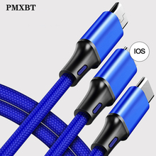 3 in 1 USB Cable For iPhone X 8 7 Mobile Phone Charger Charging Micro USB Type C For Samsung S9 Xiaomi Huawei USB C Charge Cord 3 in 1 usb cable for iphone x 8 7 mobile phone charger charging micro usb type c for samsung s9 xiaomi huawei usb c charge cord