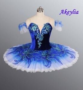 Image 1 - Real azul pájaro YAGP profesional Ballet Competiton tutú Falda Mujer Rosa clásico panqueque tutú vestido de disfraz