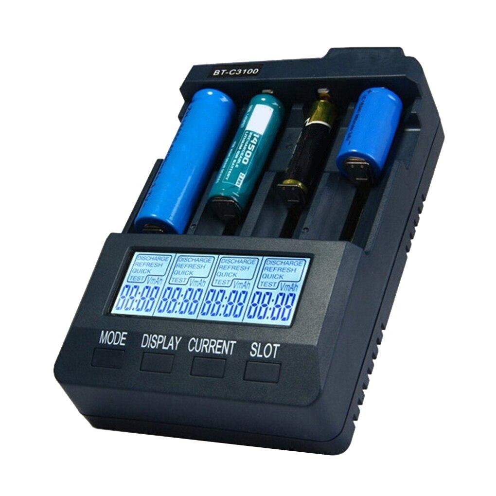 Prise ue/états unis/royaume uni V2.2 Batteries rechargeables intelligentes adaptateur secteur numérique 4 fentes LCD chargeur de batterie universel|Chargeurs|   - AliExpress