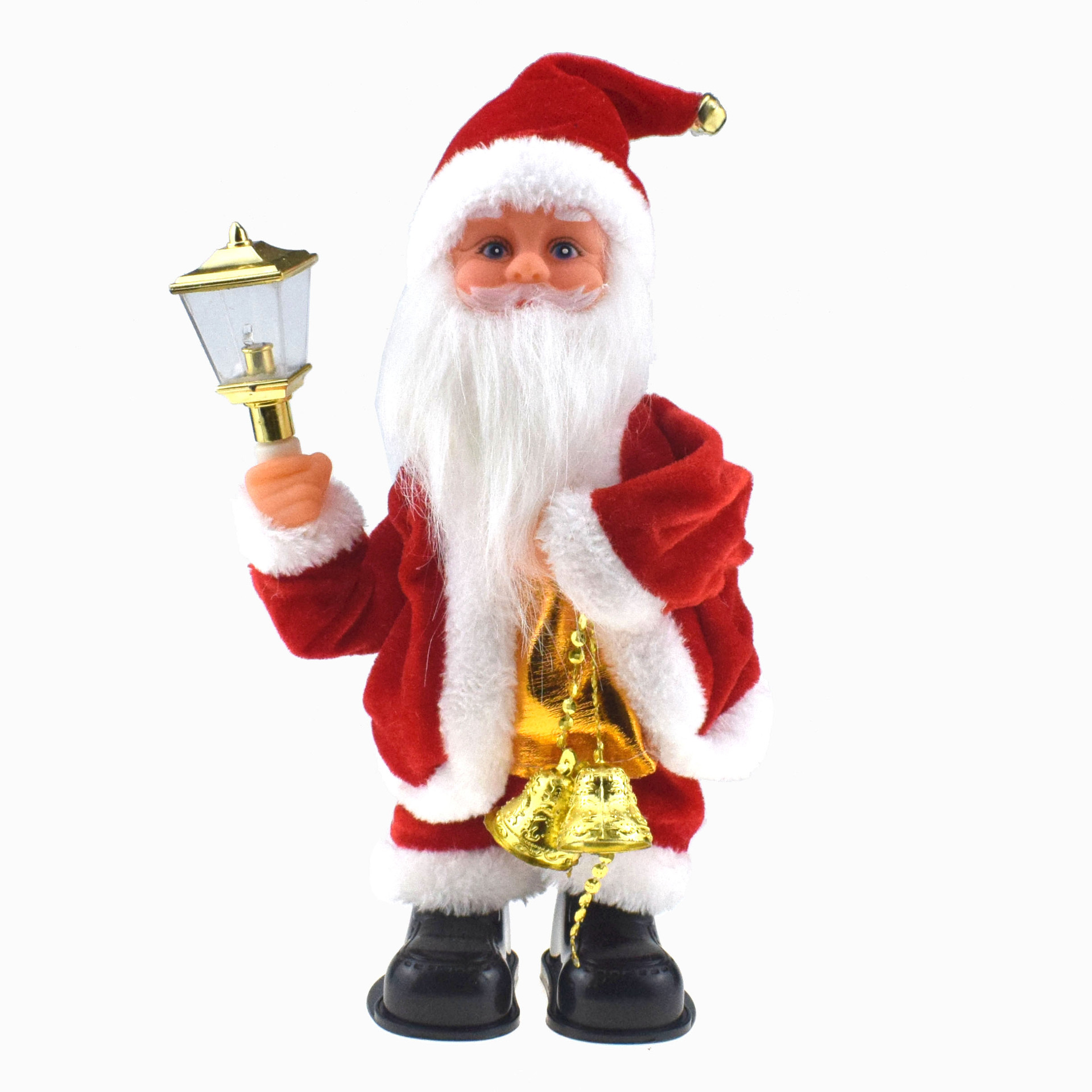 Creative Novelty Shake Lamp Mention Bell Santa Claus Doll With Music Electric Will Sway Christmas Elder's Day Toy