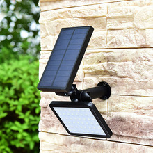 Power-Lamp Lighting Wall Leds Solar Outdoor Garden Adustable 48 for Yard Angle-280lm