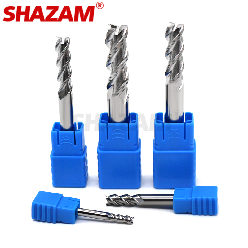 Milling Cutter Alloy Coating Tungsten Steel Tool By Aluminum HRC50 Cnc Maching 3 Blade Endmills Top SHAZAM Wood Milling Cutter