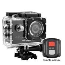 Câmera ultra da ação de hd 4k wifi 2 polegada tela 170 ° grande ângulo de controle remoto esportes câmera wifi dv ir pro câmera capacete à prova ddv água