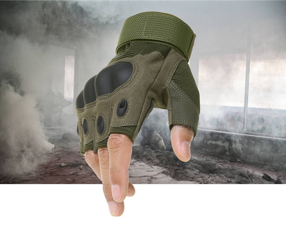 Hfb7b306aebe74c4682b3e630b9ece7d7o - Motorcycle Fingerless Gloves Hard Knuckle Motorbike Motocross Luva Biker Racing Ridding Cycling Half Finger Moto Protective Men