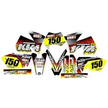 Für KTM EXC Serie 2005 2006 2007 Volle Grafiken Decals Aufkleber Custom Nummer Name 3M Matte Aufkleber Wasserdicht