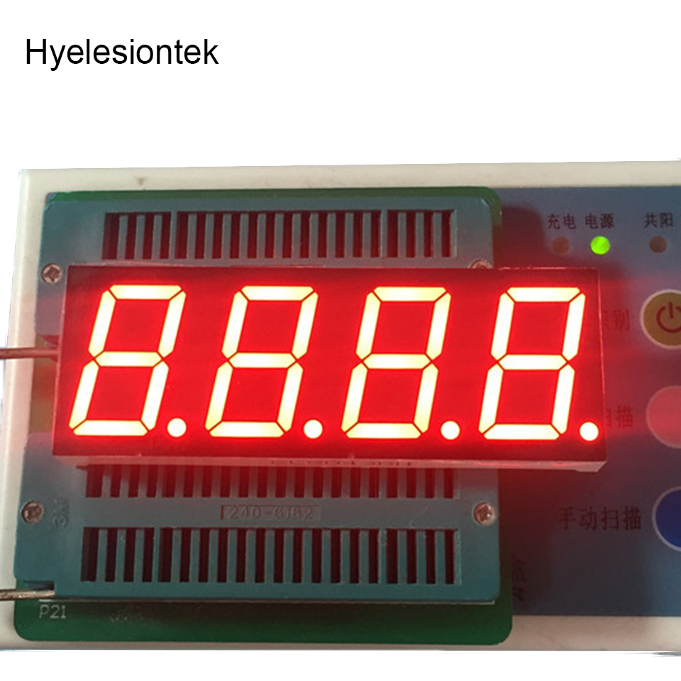 1PCS LED Display 7 Segment Signs 0.8 Inch Digital RED LED Display Screen 7-Segment 4 Digits 0.8inch 7Segments Light 0.8