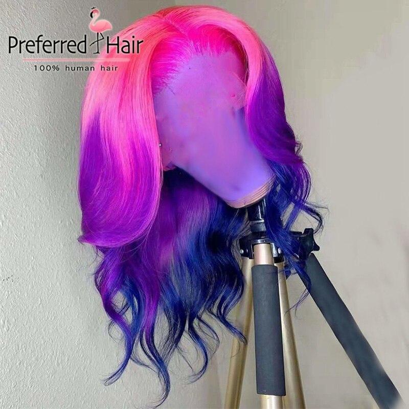 Preferred 13x4 Brazilian Wavy Lace Front Wig Preplucked Ombre Lace Front Wig Remy Lace Front Human Hair Wigs For Black Women