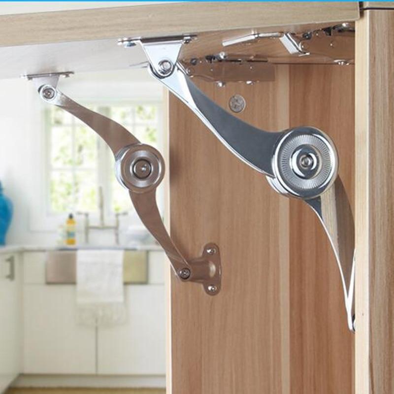 1pc Adjustable Cupboard Cabinet Door Lift Up Strut Lid Flap Stay Support Hinge