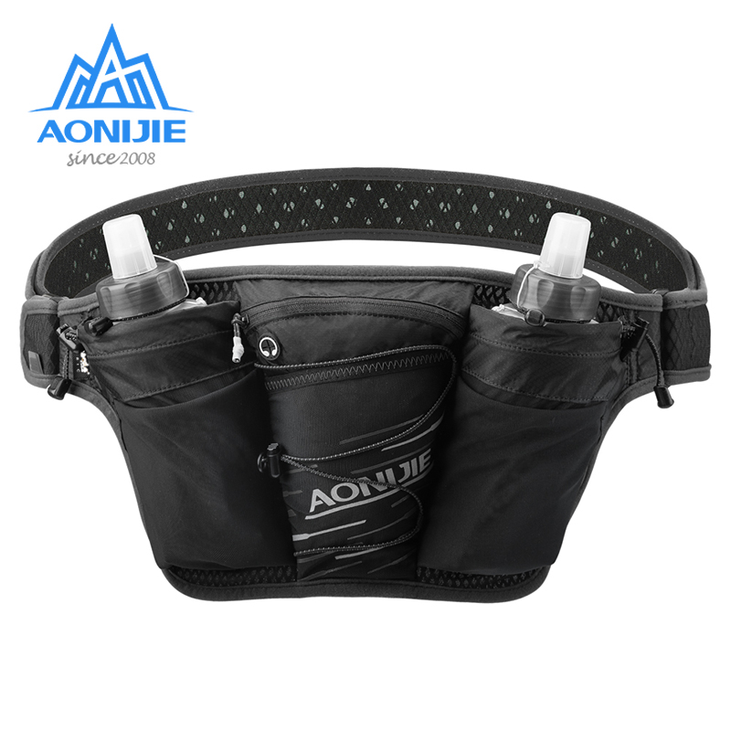 Hiking Cycling Waist Bag Belt Fanny Pack Bum Bag with Water Bottle Pockets