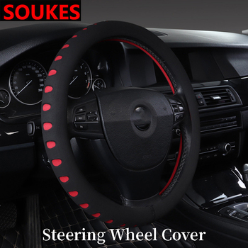 Rubber Racing Car Handle Steering Wheel Cover For Suzuki Swift Bmw F10 X5 E70 E30 F20 E34 G30 E92 E91 M Volvo XC90 S60 V40 S80 image