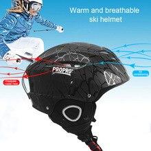 Сноуборд на открытом воздухе для взрослых детей скейтборд снежные виды спорта ветрозащитный Теплый Лыжный шлем Осень Зима ABS дышащий цельно-Формованный