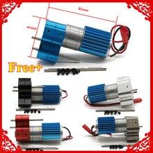 370 brushed motor+alloy heat sink&gear box set with steel gears for WPL Henglong C14 C24 B14 B24 B16 B36 4x4 6x6 upgraded parts