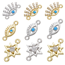 Connectors Components-Accessories ZHUKOU Jewelry-Supplies Diy Handmade Crystal-Star/eye-Bracelet