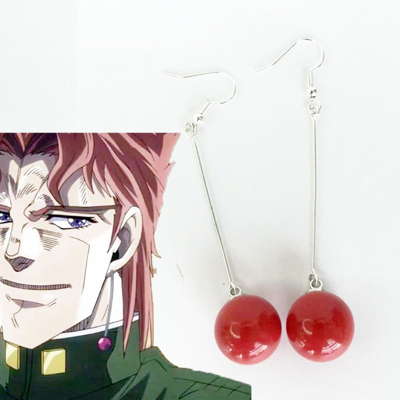 Anime earrings JoJo 39 s Bizarre Adventure JEAN PIERRE Cosplay Earring Jewelry Props Ear Stud for Japanese Anime costume in Boys Costume Accessories from Novelty amp Special Use